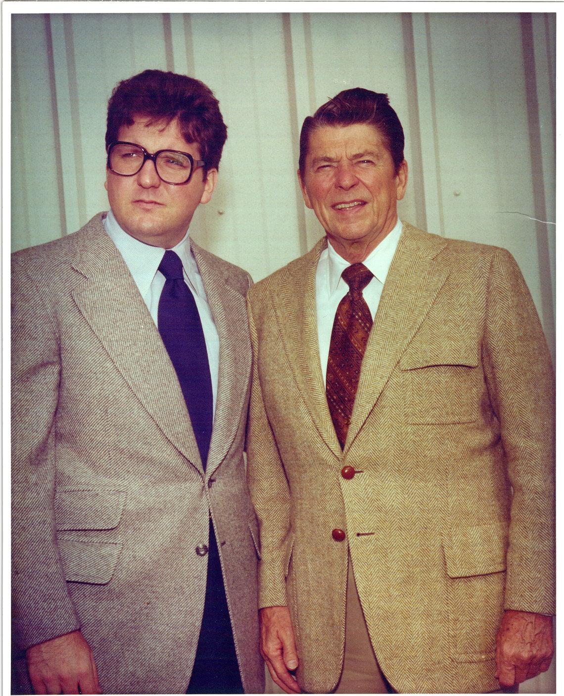Pat Nolan with Ronald Reagan in 1978.