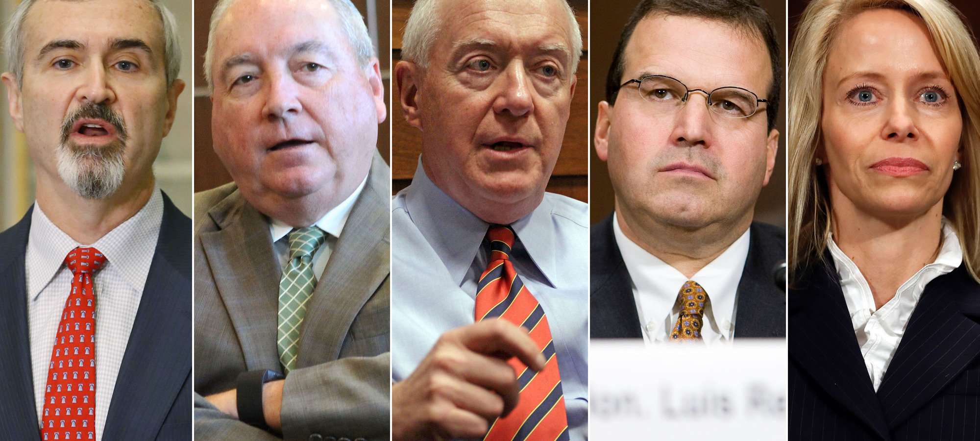 From left, John G. Malcolm, Judge K. Michael Moore, Judge Henry E. Hudson, Judge Luis Felipe Restrepo, and Judge Claria Horn Boom have been nominated by President Trump to fill the five empty spots on the U.S. Sentencing Commission.