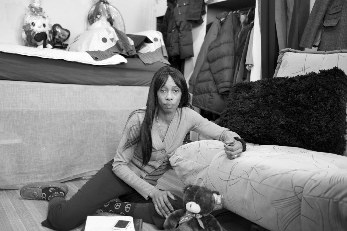 Tracy, 49, living in a three-quarter house in the South Bronx, one of five residences she's had since her release from prison.