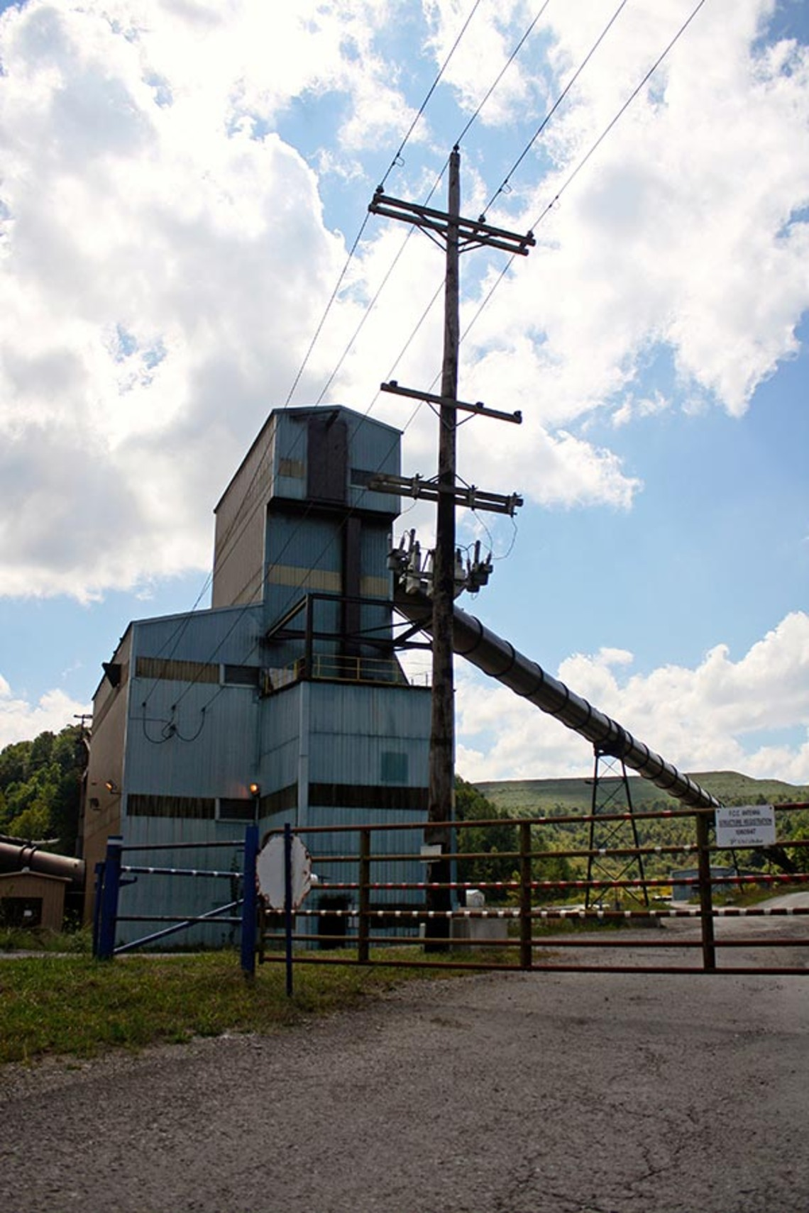 The site of the 2006 Sago Mine Disaster, a 30-minute drive from the Smith family home, in Upshur County, W. Va.