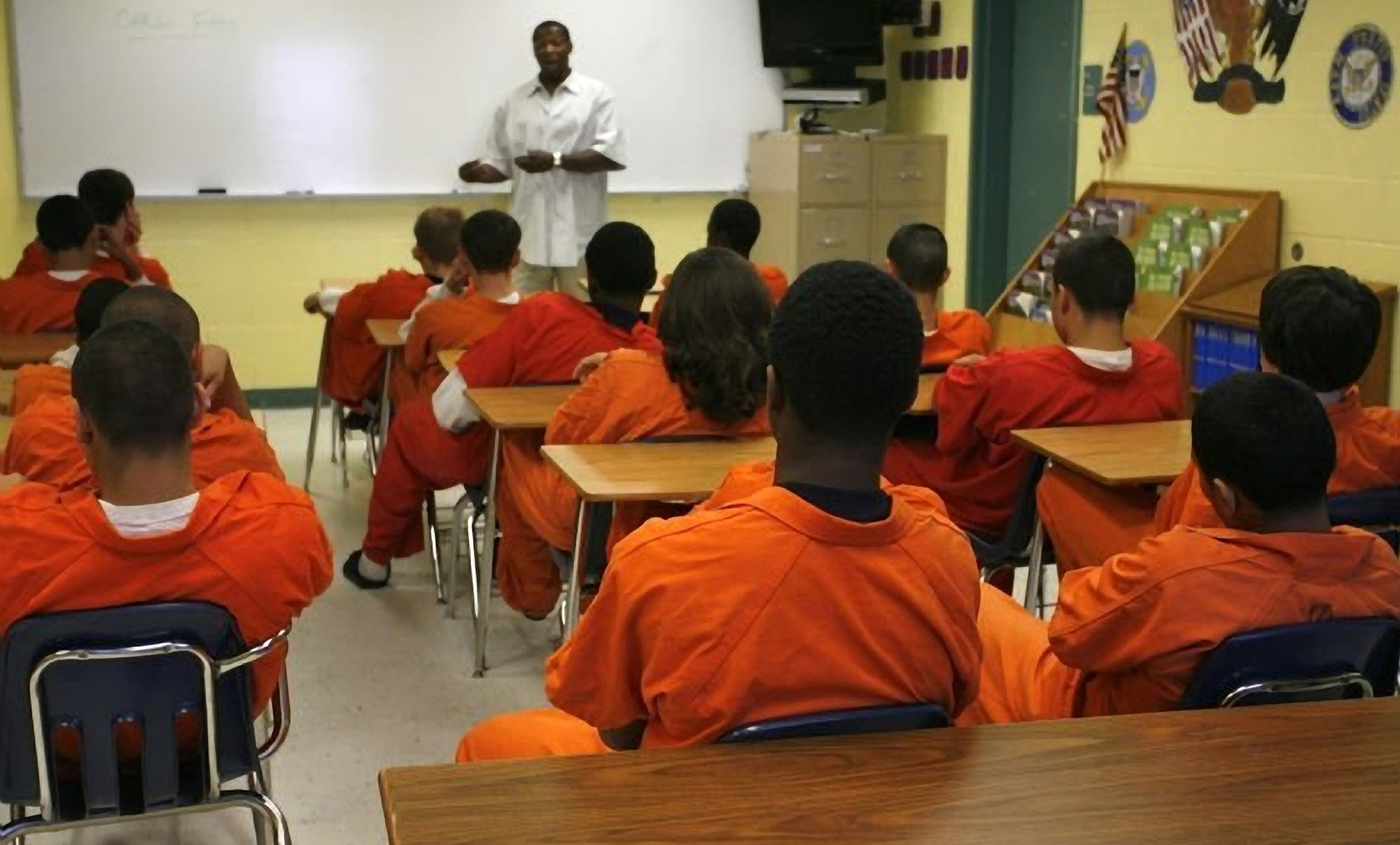 Teenagers at the Hillsborough County Juvenile Detention Center East in Tampa, Florida, in September 2020.