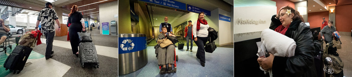 March 3, 2016, 11:10 a.m. Hawaii Standard Time: Mahealani Meheula and her brother Harold at the Hawaiian Airlines terminal at Honolulu International Airport; March 4, 10:15 p.m. Mountain Standard Time (MST): Mahealani Meheula, Harold and their mother, Viviana, arrive at Phoenix Sky Harbor International Airport; March 5, 12:05 a.m. MST: They arrive at Casa Grande Holiday Inn in Casa Grande, a desert town about 50 miles southwest of Phoenix.
