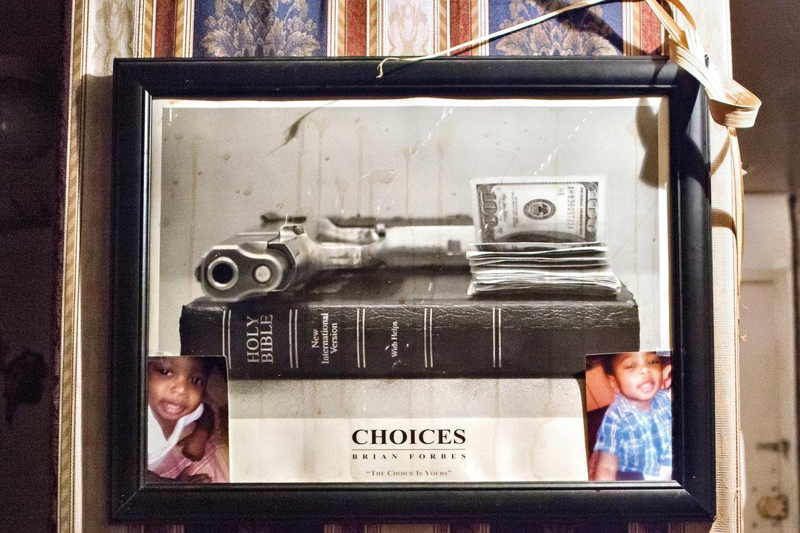 A photograph hanging in Warren's living room.