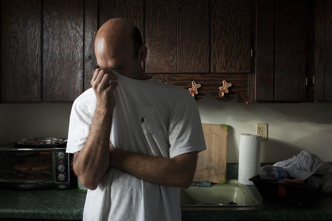 Richard in his kitchen.  He writes,