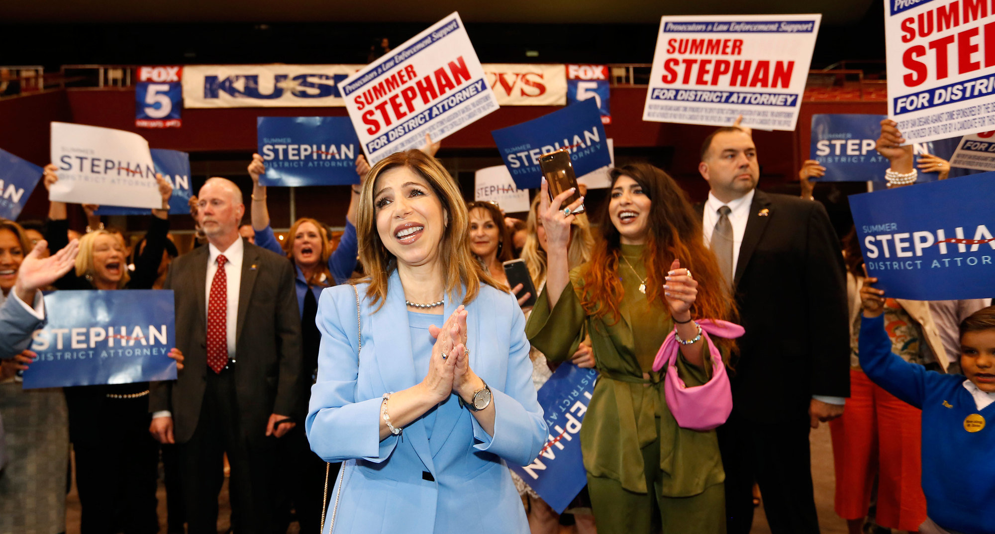 District Attorney Summer Stephan in San Diego on Tuesday. Stephan appeared to hold off a challenge from a Soros-backed candidate in San Diego's primary.