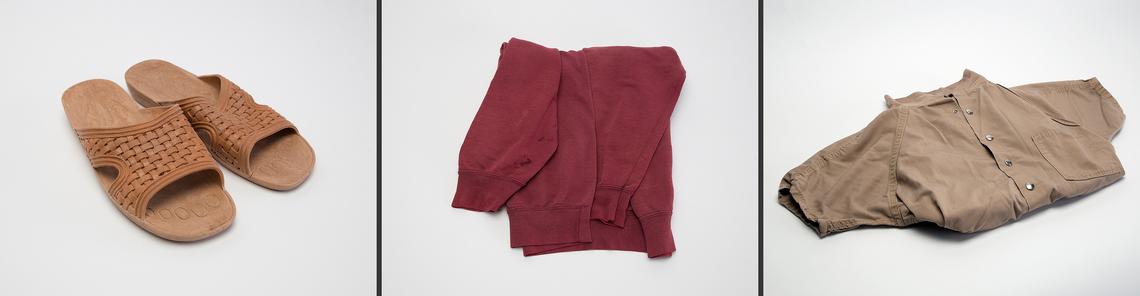 Standard Issue: Sandals; Sweatshirt; Jumpsuit