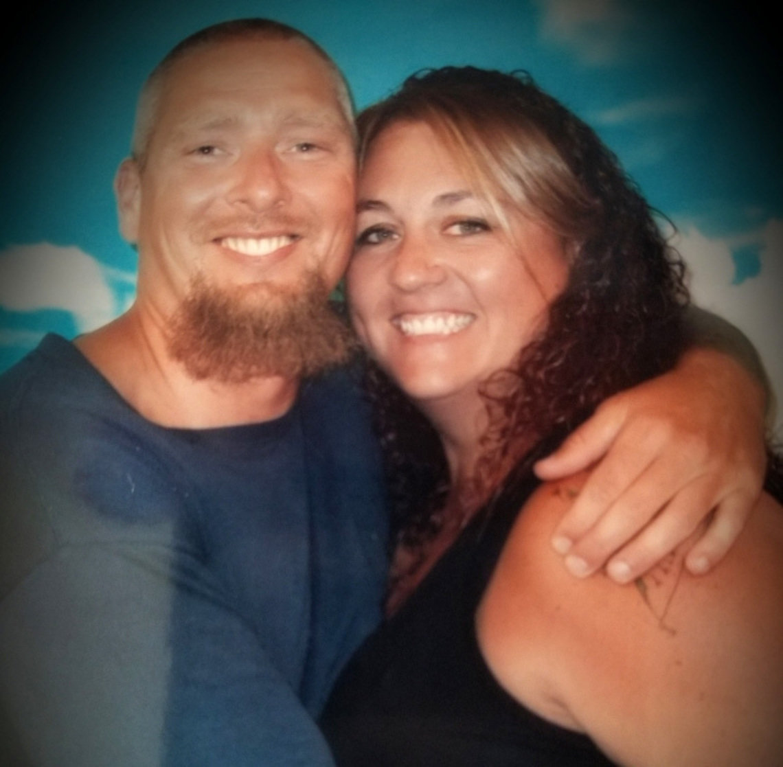 Amy Wallace and her husband, Jerry Wallace, who is incarcerated at Kinross Correctional Facility in Michigan.
