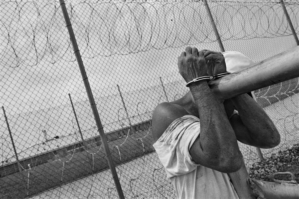 Larry Hope was tied to a post at the Limestone Correctional Facility in Harvest, Alabama, in 1995.
