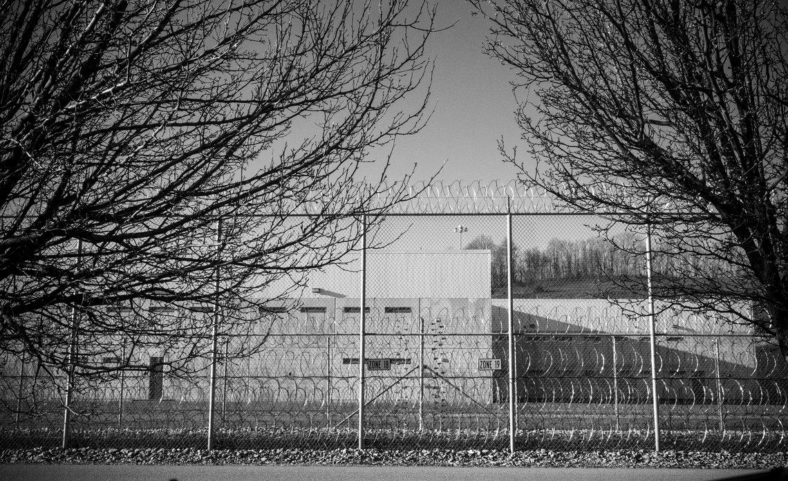 Outside Wallens Ridge State Prison fence.