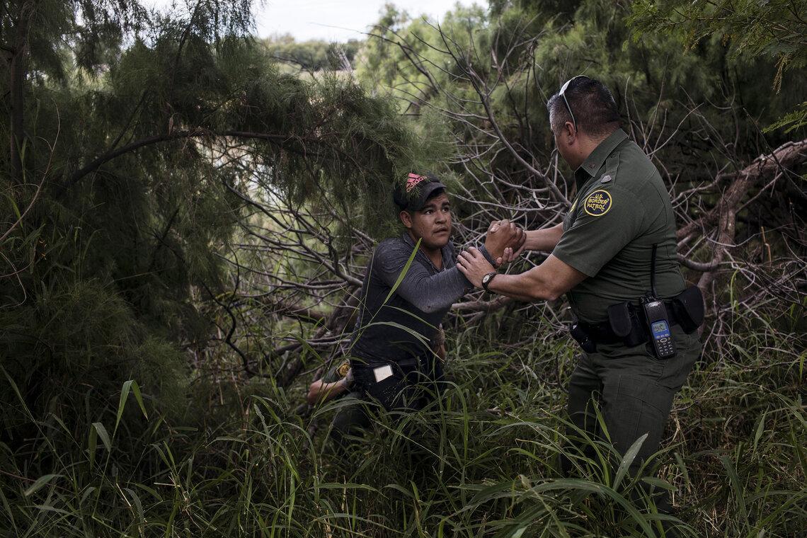 Border Patrol Agent Benigno Cepeda apprehended a man hiding in the brush along the Rio Grande River, in Laredo, in November of 2018.