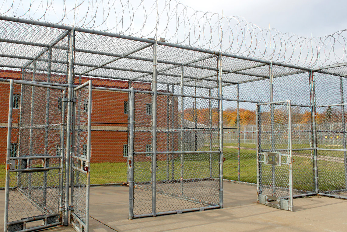 The recreation area at Alger Correctional Facility used by men in the Incentives in Segregation program.