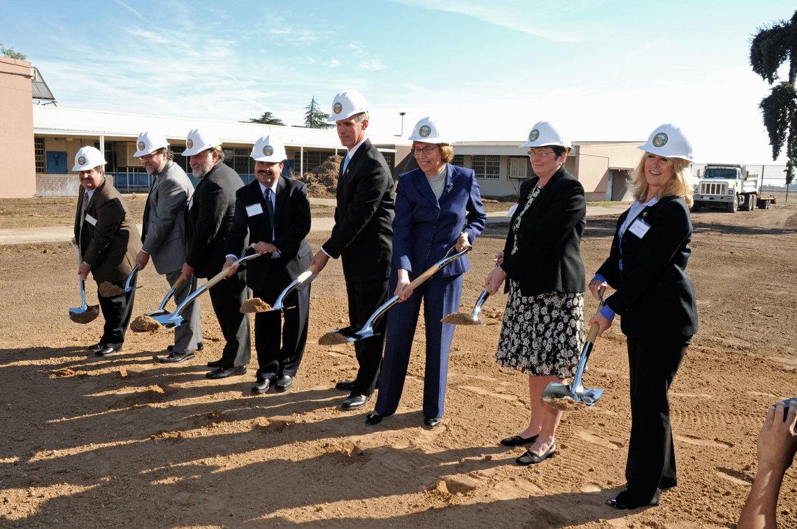 Groundbreaking for California Health Care Facility, Stockton in November 2010.