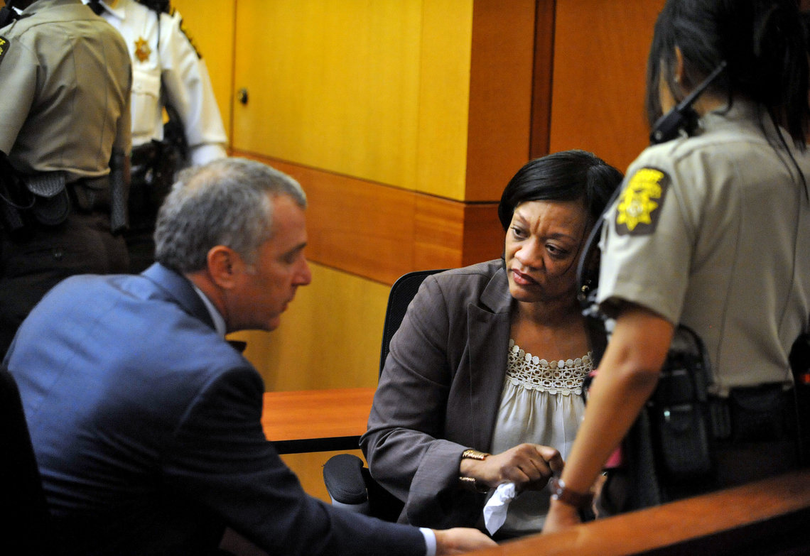 Former Dobbs Elementary principal Dana Evans after being found guilty in the Atlanta Public Schools cheating trial.