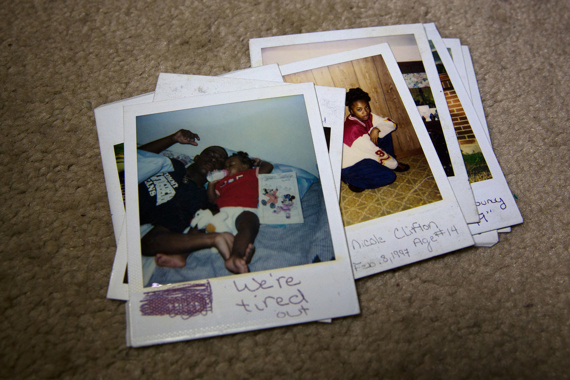 Polaroids mailed to Ronald by his nieces while he was incarcerated in the 1990s.