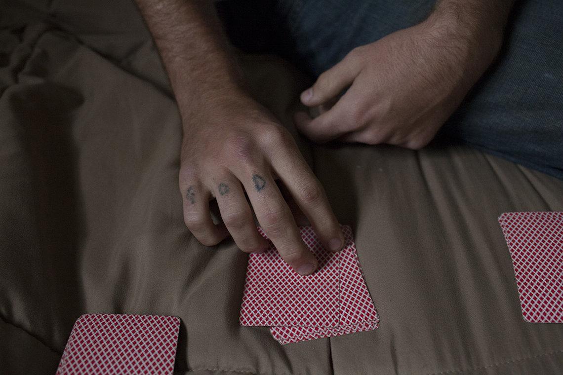 Doug playing cards.