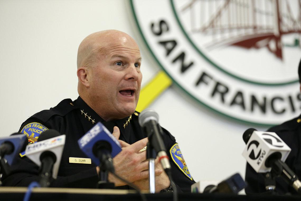 Former San Francisco Police Chief Greg Suhr in April.