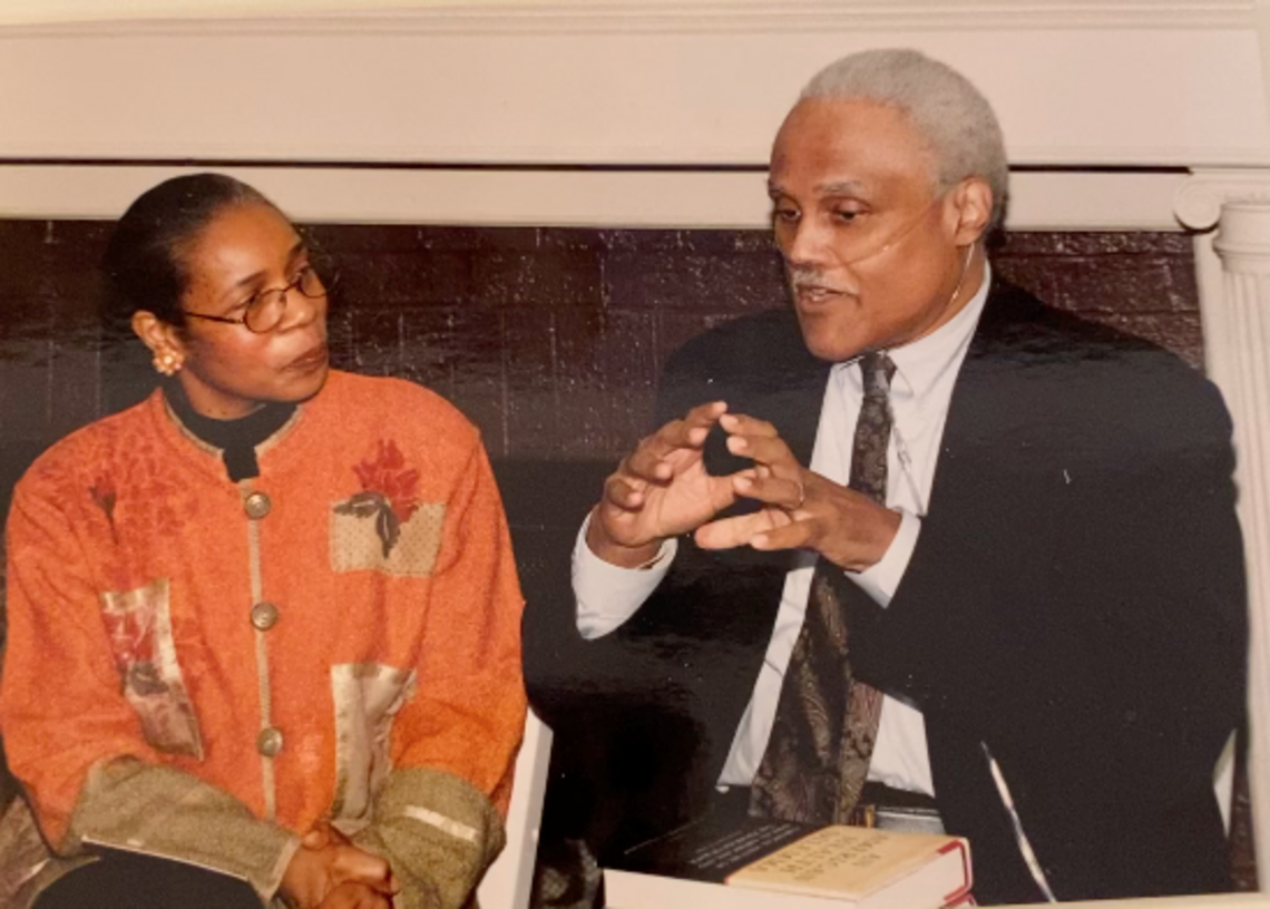 Dr. Linda A. Clayton and Dr. W. Michael Byrd in at a book signing in Boston for their second book on the history of racial health disparities in the United States.