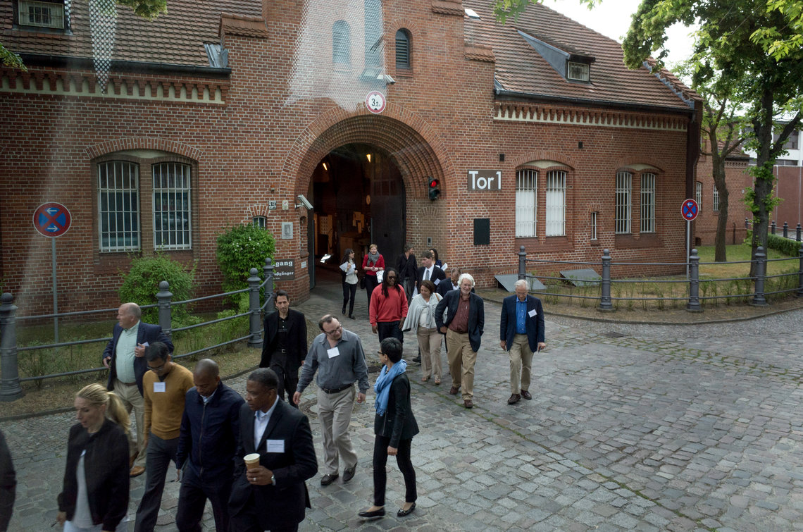 The Delegation of the International Sentencing and Corrections Exchange leaves Tegel-Prison in Berlin on Tuesday.