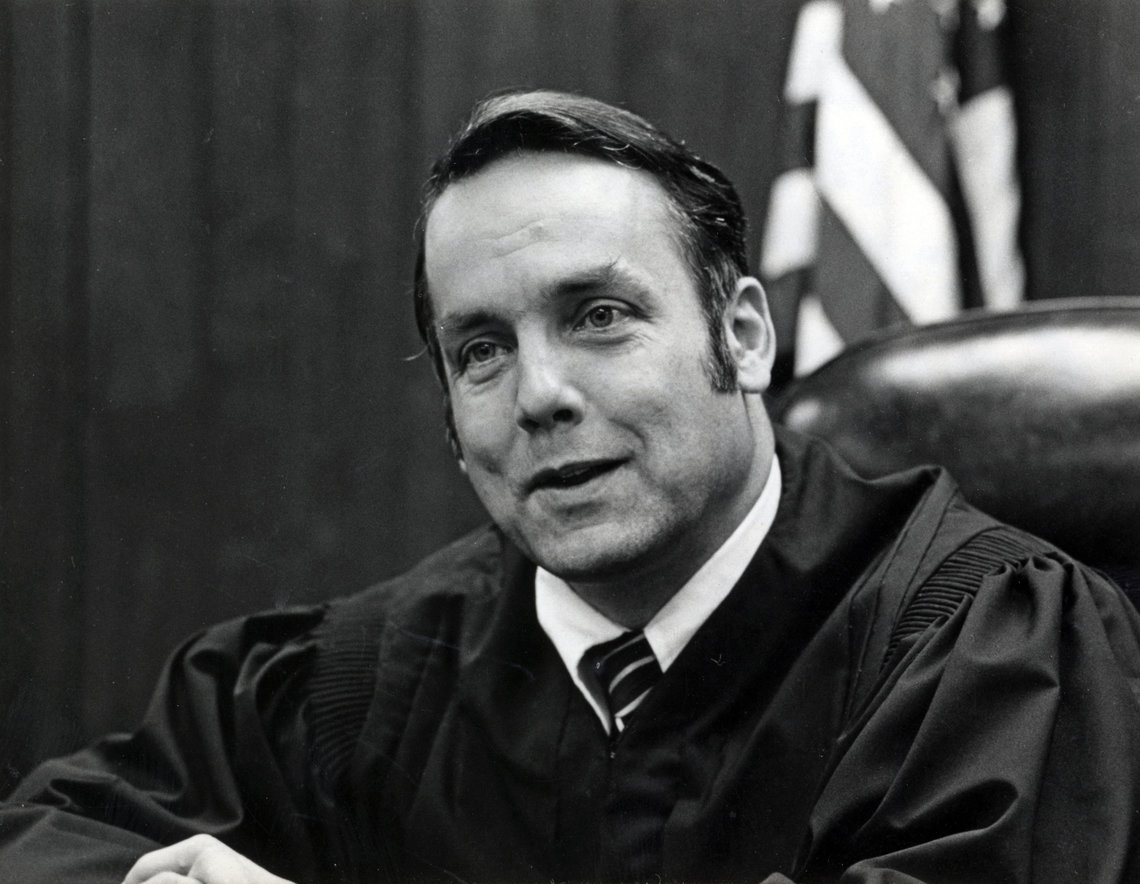 Justice Utter on the Washington Supreme Court in 1972.