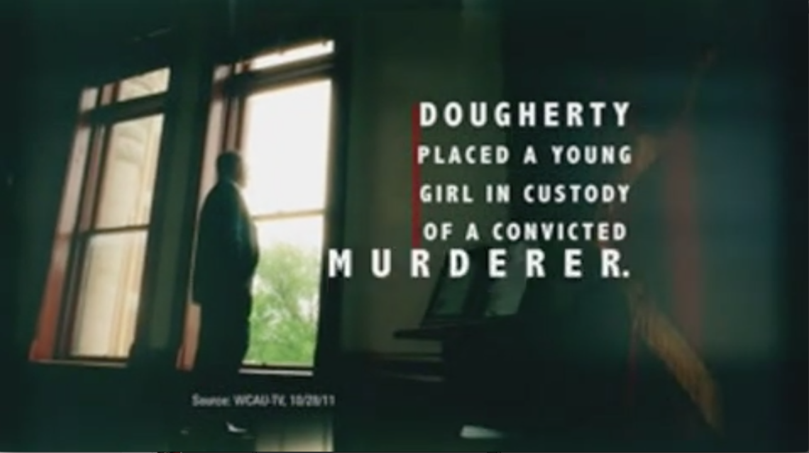 A screenshot of an ad paid for by the Republican State Leadership Committee claims Pennsylvania Justice Kevin Dougherty