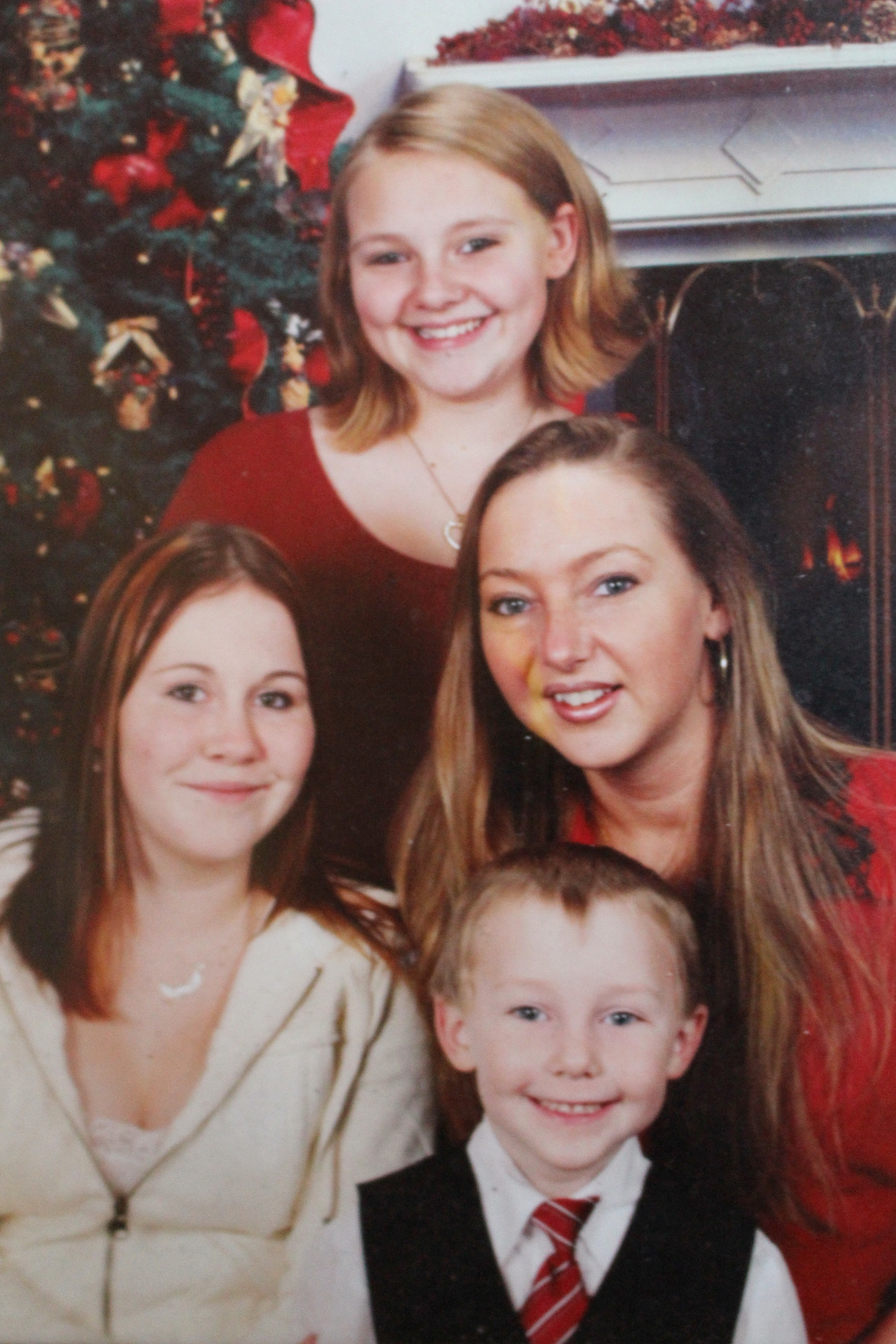 Cass with her children, Matthew, Kaylee, left, and Courtney in 2006.