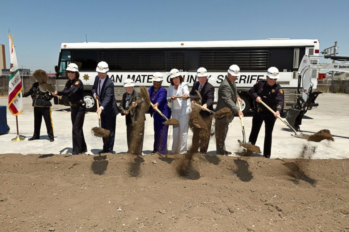 A July 2012 groundbreaking for the Maple Street Correctional Center in San Mateo County.