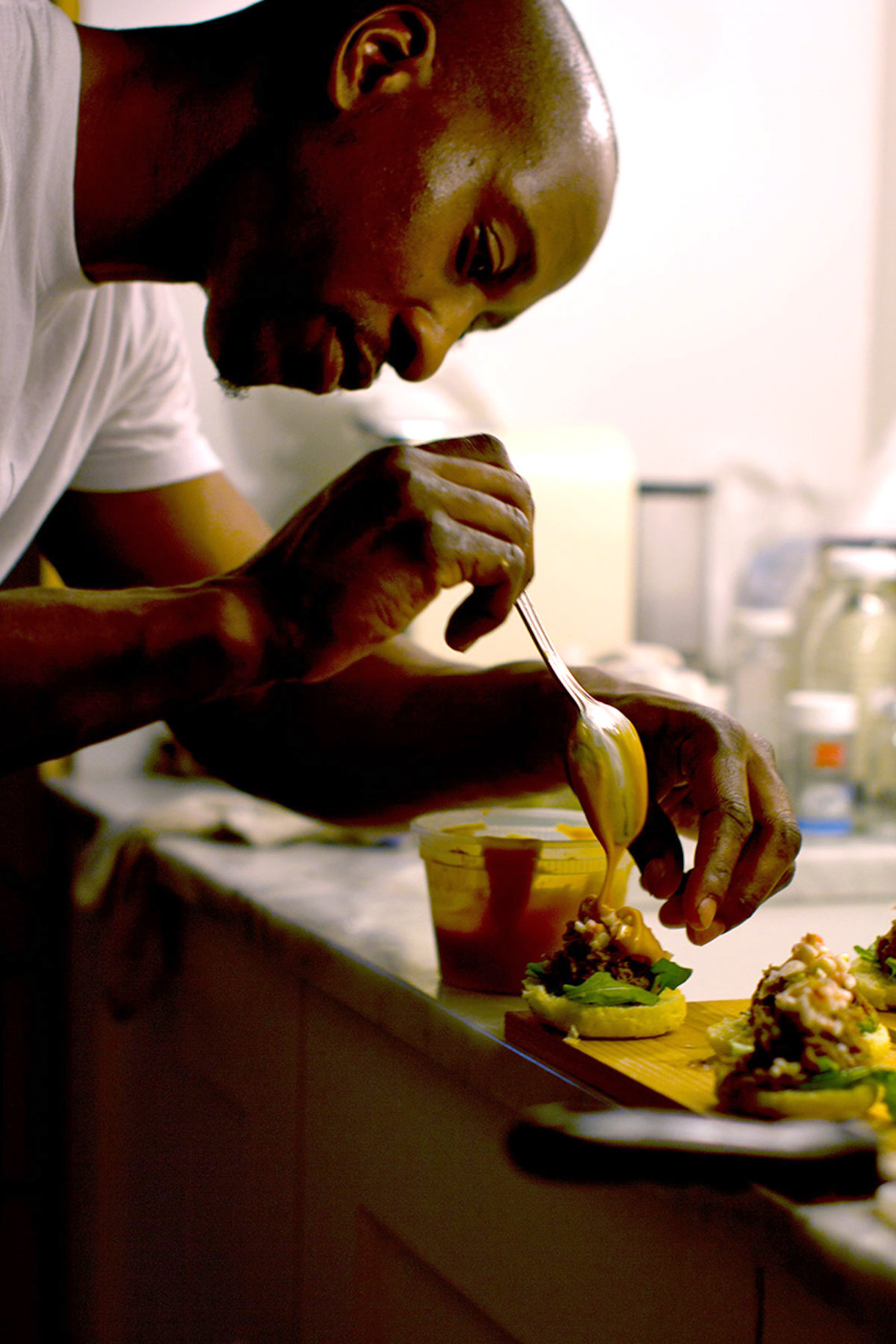 Marquis Hayes started his catering company after attending Defy Ventures.