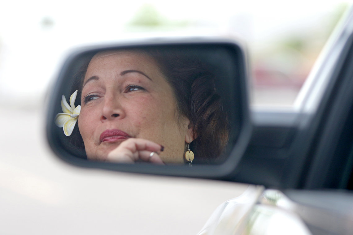 Mahealani Meheula on the way back to Phoenix Sky Harbor International Airport after her final visit on March 7 to the Saguaro Correctional Center.