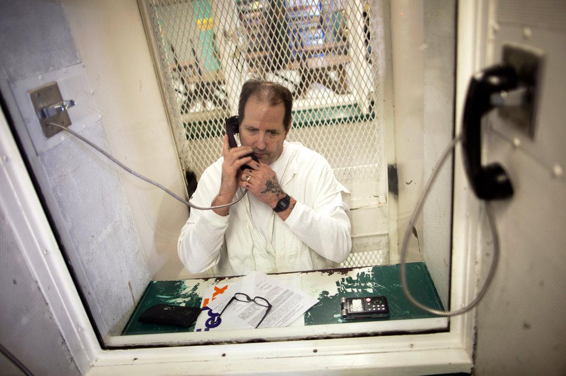 Max Soffar at the Polunsky Unit in Livingston, Texas, in December 2012.