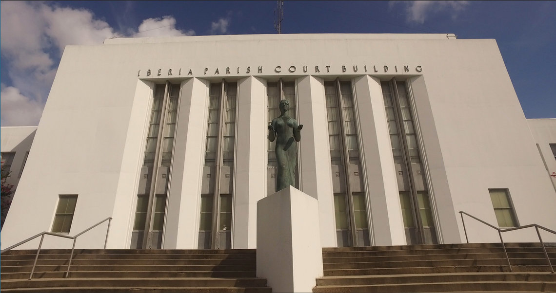The Iberia Parish courthouse in New Iberia, La. Mass pleas are taking place here and throughout the state.