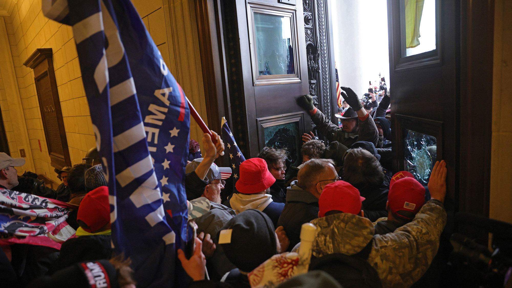 Insurrectionists broke into the U.S. Capitol on Jan. 6 in Washington, DC.