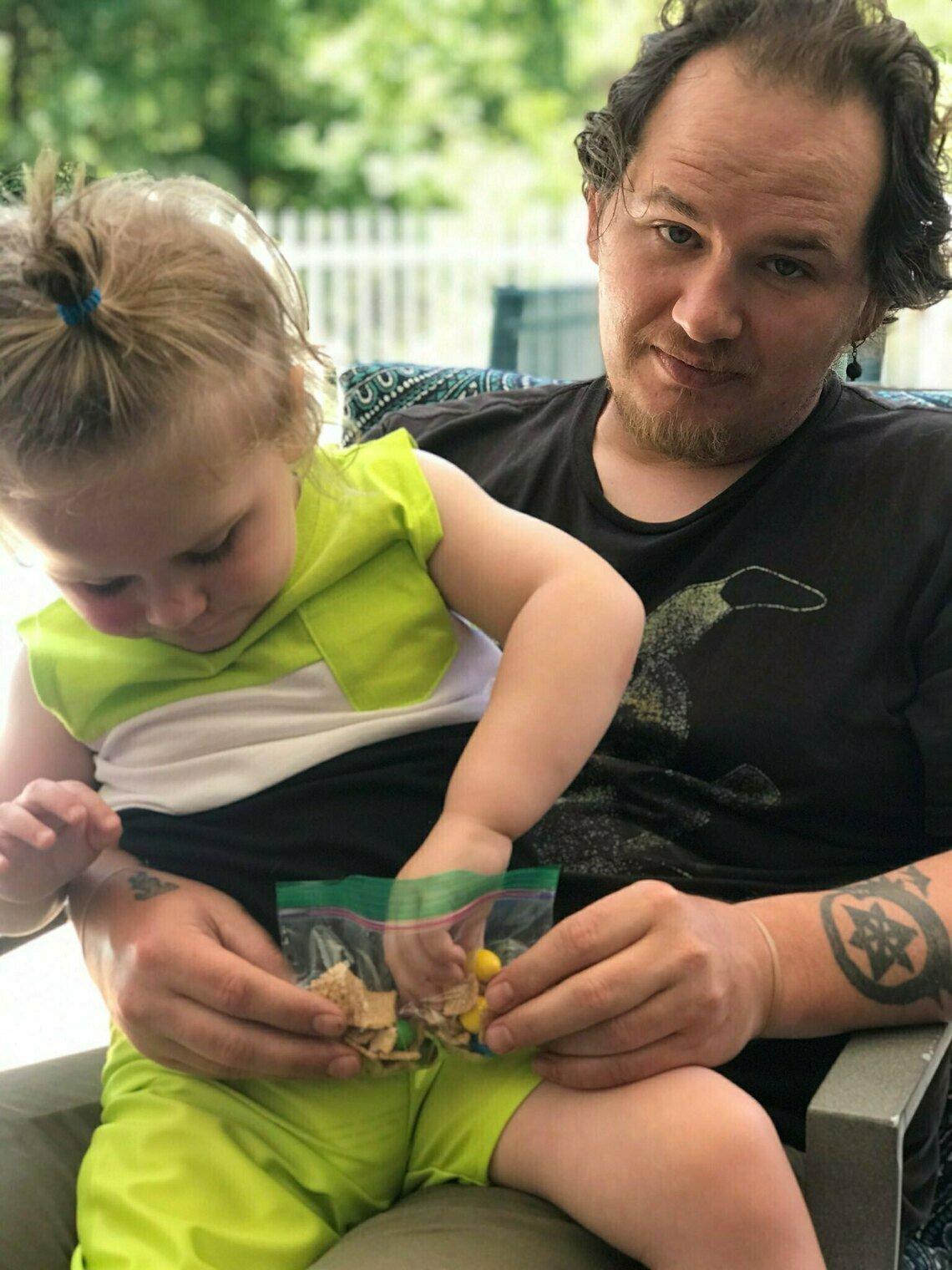 Patrick Fagan with his son Dash.